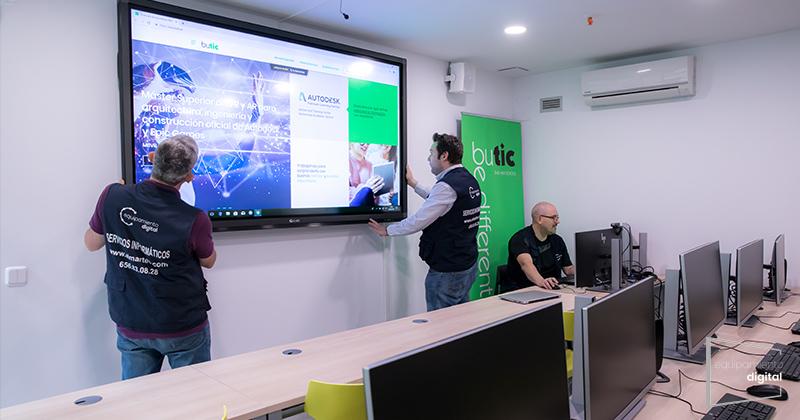 instalacion audiovisual butic madrid - equipamiento digital